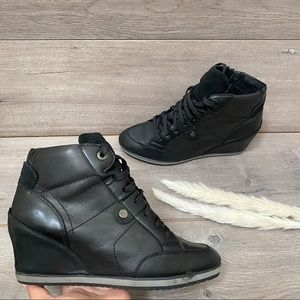 Geox D Illusion Lace Up Wedges